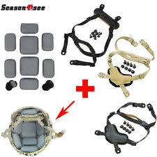 On Sale MICH Helmet Retention System Chin Strap + Protective Spacer Pads Gear