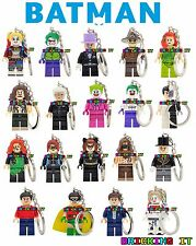 DC Comics 60s Batman Minifigure Keyrings fit Lego | Joker Robin Penguin Catwomen