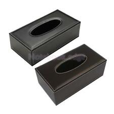 Rectangular PU Leather Tissue Holder Box Cover Case for House Hotel Car Home Use