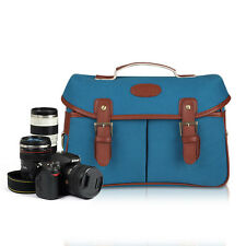 New Fashion Soft Cowhide Leather For Canon Nikon Sony DSLR Camera Shoulder Bag