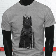 Wild Animal Zoo Puppy Forest Coyote Twilight Siberian Wolf Mens Gray T-Shirt