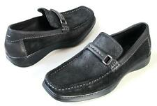 new mens DONALD J PLINER black suede LOAFERS shoes 8 - very comfortable
