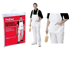 Painters Decorators Bib & Brace Overalls Coverall Trousers Kneepad Pockets