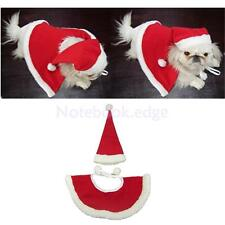 Red Hat & Shawl Christmas Clothes for Dog Pet Santa Claus Costume Puppy Supplies