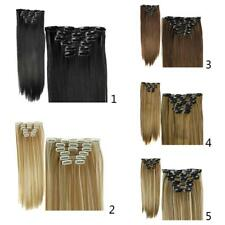 6pcs/set 16 Clips 24'' Clip in Straight Hair Extension HAIR EXTENSIONS Costume