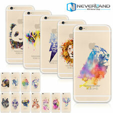 Painted Watercolor Animal Pattern Soft/Hard Phone Shell Case Cover For Iphone 6S