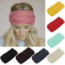 Headband Knit Flower Hairband Ear Warmer Headwrap Winter Women Fashion Crochet