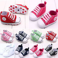 Infant Toddler Baby Boy Girl Soft Sole Crib Shoes Kids Anti-Slip Canvas Sneaker