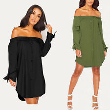 Hot Sexy Ladies Off Shoulder Casual Party Cocktail Mini Short Dress Clubwear