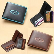 Thin Slim Stylish Mens Leather Wallet Credit ID Card Money Holder Front Pocket