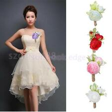 Wedding Prom Women Bridal Men Groom Tuxedo Boutonniere Corsage Flower Brooch Pin
