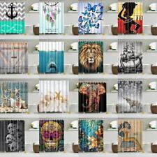 Creative Waterproof Fabric Shower Curtain Bathroom Drapes Panel with 12 Hooks