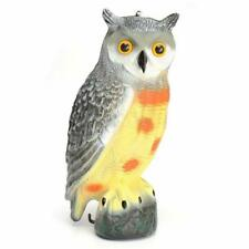 Realistic Owl Decoy Weed Pest Control Repellent Garden Scarer Scarecrow 3Colors
