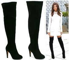 WOMENS LADIES SEXY OVER THE KNEE THIGH HIGH SOFT SUEDE HIGH HEEL THIGH BOOTS