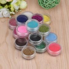 9 Style Acrylic Glitter Powder Nail Art Crystal Nail Tips Dust Powder UV Gel NEW