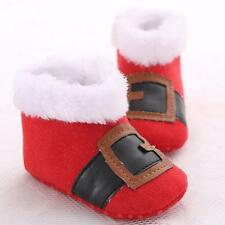 Christmas Baby Girls Toddler Infant Snow Soft Cotton Boots Prewalker Crib Shoes