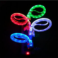 Glow Charger Led Light Data Sync Charge Power Cable Micro USB For iPhone 6 4s 5
