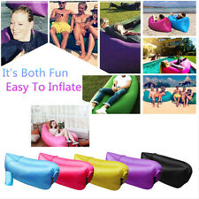 Inflatable Sofa Air Bed Lounger Chair Outdoor Sleeping Bag Mattress Holiday Bed
