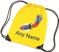Personalised Space Rocket School/PE/Bag - *Choice Of Colours* Free Postage*