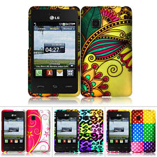 For LG 840G LG840G Straight Talk Net 10 Tracfone Colorful Design Hard Case Cover