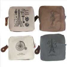 Women Girl Canvas Tower Cloth Purse Zipper Wallet Coin Key Case Bag Handbag Gift