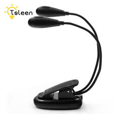 clip-on bright flexible arm stand reading clip led light desk laptop book lamp