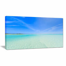 Tropical Beach in Cayo Largo Island Photographic Print on Wrapped Canvas