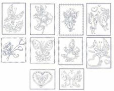 Hearts & Butterflies Redwork Machine Embroidery Designs-30Anemone Embroidery Des