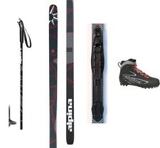 NEW ALPINA CONTROL XC CROSS COUNTRY NNN SKIS/BINDINGS/BOOTS/POLES PACKAGE -180cm