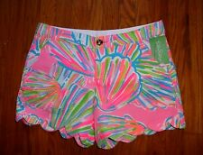 NWT LILLY PULITZER PINK POUT SHELLABRATE BUTTERCUP SHORT 4 6 8 10 12 14 16