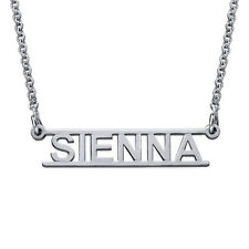 Personalised Unique Gifts 925 Silver Name Necklace Custom Wedding Gift Ideas