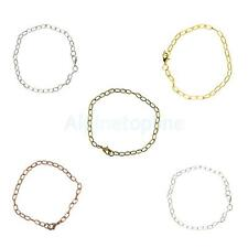 6pcs Charm Lobster Clasp Chain Unique Bracelets DIY Jewelry Making Connectors