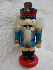 QUIRKY LITTLE OLD WOODEN TOY NUT CRACKER FIGURE~HAND PAINTED~SOLDIER