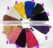 Women Crochet Headband Knit Hairband Flower Winter Ear Warmer Headwrap headwear