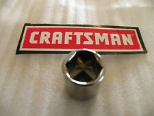 "CRAFTSMAN 3/8"" Drive SHALLOW SAE SOCKET 6pt 6 pt Point  ANY SIZE  in inch"