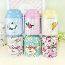 Flower Metal Coin Sugar Coffee Tea Tin Jar Container Candy Sealed Cans Box NEW
