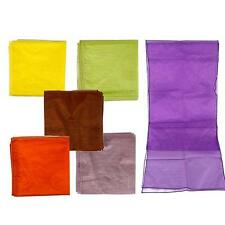 "10Pcs 12""x108"" /14""x110"" Satin Organza Table Runner Wedding Party Decor Useful"