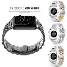 316L Stainless Steel Watchband Bracelet Butterfly Loop For Apple Watch 38/42 New