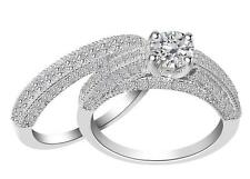 SI1/G Vintage 1.50 Ct Diamond Jewelry 14Kt Solid Gold Engagement Bridal Ring Set