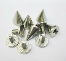 Hot Sale 10mm Metal Cone Screwback Spikes Stud Punk Bracelet Leather Bag Shoe