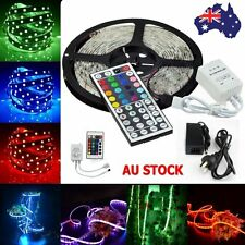 5M 5050/3528 LED Strip SMD Flexible Lamp Light 150/300led Power Supply IR Remote