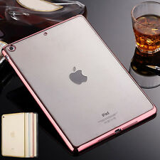 Slim Rubber Soft Silicone Clear Crystal Case Cover For iPad Mini 2/3/4 Air Pro