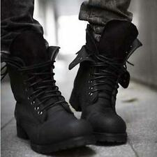 New Men's Winter Combat Boots Fashionable Retro Military Short Black Shoes HOT