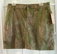SONOMA LIFE STYLE WOMENS FOREST GREEN LEAVES SKORT NWT Sz 6