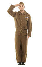 Mens Home Guard Dads Army British War Soldier Fancy Dress Costume