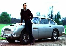 Large James Bond 007 Sean Connery Aston Martin Canvas Picture Wall Art