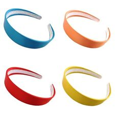 "Plain Bright Satin Covered Alice Band Hair Headband 2.5cm (1"") Wide Accessories"