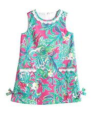 New Lilly Pulitzer LITTLE LILLY SHIFT DRESS 4 5 6 Pink Trunk Show ELEPHANTS NWT