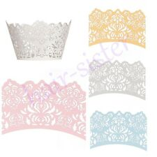 New Lace Flower Cupcake Decorating Liners Cake Lacer Paper Wrappers Wraps Cases