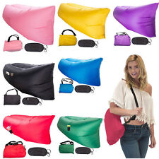 New Inflatable Lounger Air Filled Beach Sleep Compression Sofa Bags USA Shipping
